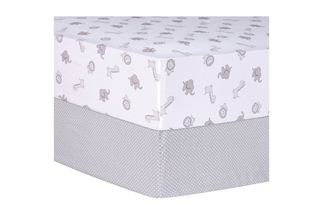 Trend Lab Safari and Dots 2 Pack Fitted Crib Sheets, , large