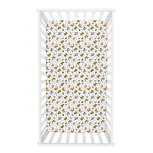Trend Lab Friendly Forest Deluxe Flannel Fitted Crib Sheet, , rollover