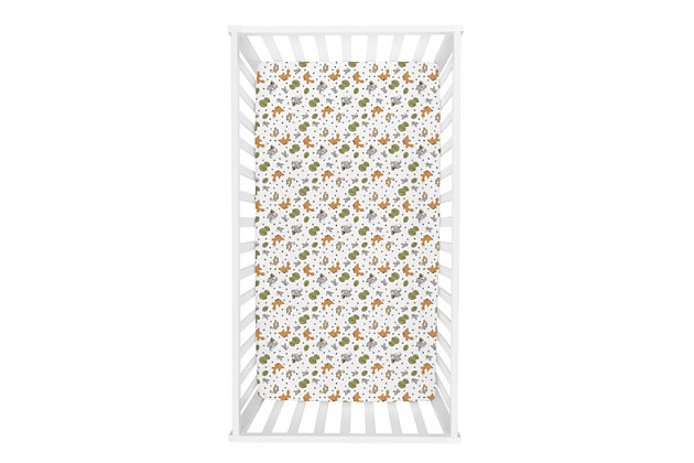 Trend Lab Friendly Forest Deluxe Flannel Fitted Crib Sheet, , large
