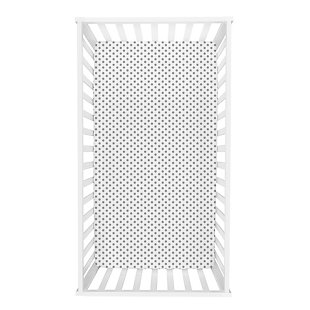 Trend Lab Gray Dot Deluxe Flannel Fitted Crib Sheet, , rollover