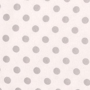 Trend Lab Gray Dot Deluxe Flannel Fitted Crib Sheet, , large