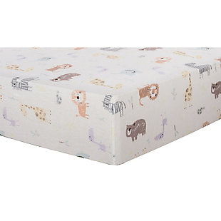 Trend Lab Crayon Jungle Deluxe Flannel Fitted Crib Sheet, , large