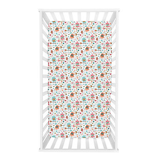 Trend Lab Playful Elephants Deluxe Flannel Fitted Crib Sheet, , rollover