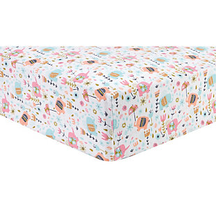 Trend Lab Playful Elephants Deluxe Flannel Fitted Crib Sheet, , large
