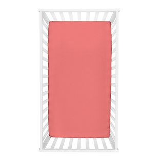Trend Lab Coral Deluxe Flannel Fitted Crib Sheet, , rollover