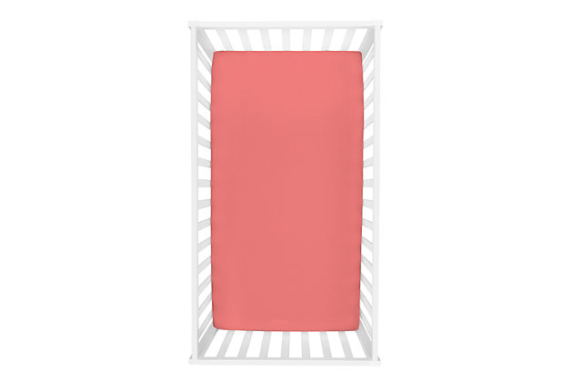 Trend Lab Coral Deluxe Flannel Fitted Crib Sheet, , large