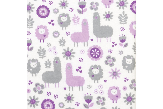 Trend Lab Llama Friends Deluxe Flannel Fitted Crib Sheet, , large