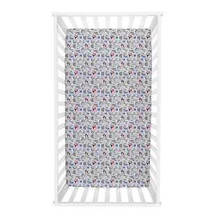 Trend Lab Lilac Winter Forest Deluxe Flannel Fitted Crib Sheet, , rollover