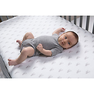 Trend Lab Gray Stag Silhouettes Deluxe Flannel Fitted Crib Sheet, , rollover