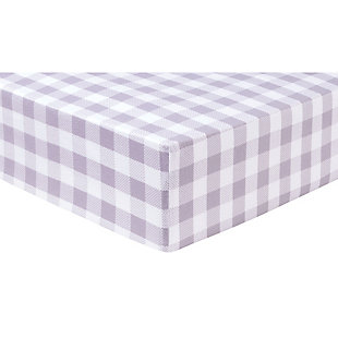 Trend Lab Gray Buffalo Check Deluxe Flannel Fitted Crib Sheet, , rollover