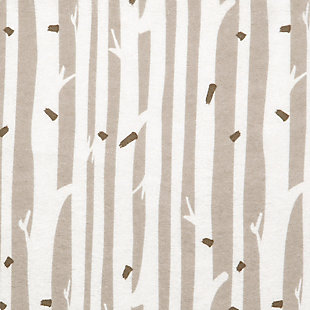 Trend Lab Birch Stripe Deluxe Flannel Fitted Crib Sheet, , large
