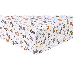 Trend Lab Forest Nap Deluxe Flannel Fitted Crib Sheet, , large