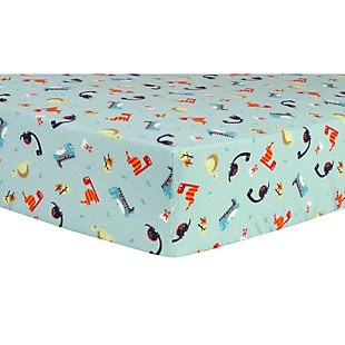 Trend Lab Dinosaurs Deluxe Flannel Fitted Crib Sheet, , large