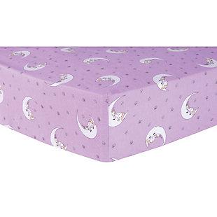 Trend Lab Unicorn Moon Deluxe Flannel Fitted Crib Sheet, , rollover