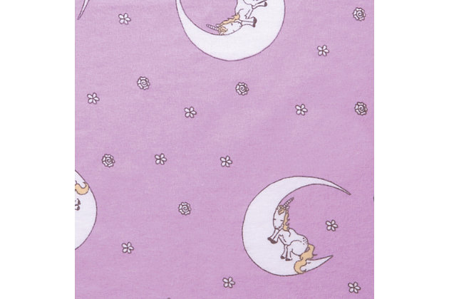 Trend Lab Unicorn Moon Deluxe Flannel Fitted Crib Sheet, , large