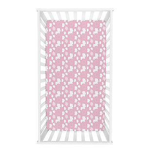Trend Lab Pink Clouds Deluxe Flannel Fitted Crib Sheet, , rollover