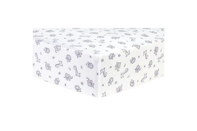 Trend Lab Chevron Deluxe Flannel Fitted Crib Sheet, , large