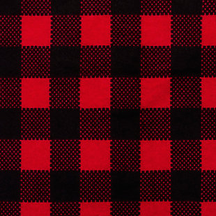 Trend Lab Buffalo Check Red/Black Flannel Fitted Crib Sheet, , large