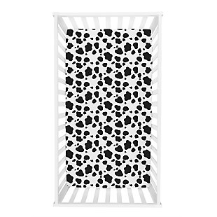 Trend Lab Cow Print Flannel Fitted Crib Sheet, , rollover