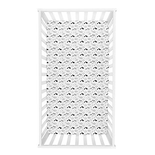 Trend Lab Lumberjack Moose Mountain Flannel Fitted Crib Sheet, , rollover