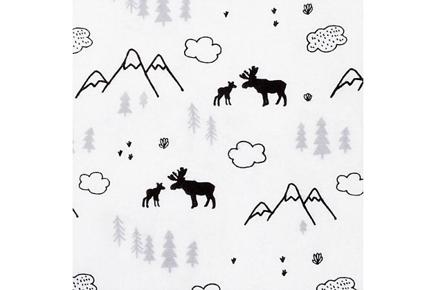 Trend Lab Lumberjack Moose Mountain Flannel Fitted Crib Sheet, , large