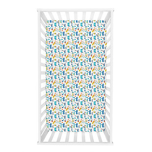 Trend Lab Construction Digger Jersey Fitted Crib Sheet, , large