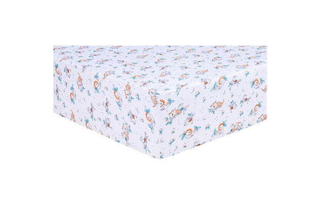 Trend Lab Safari Nap Time Jersey Fitted Crib Sheet, , large