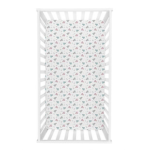 Trend Lab Feathered Friends Jersey Fitted Crib Sheet, , rollover