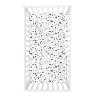 Trend Lab Fishing Bears Jersey Fitted Crib Sheet, , rollover
