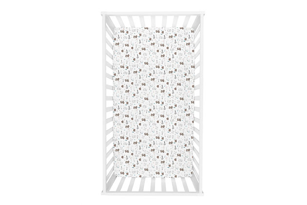 Trend Lab Fishing Bears Jersey Fitted Crib Sheet, , large
