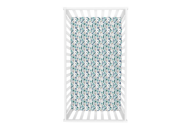 Trend Lab Terrazzo Forest Jersey Fitted Crib Sheet, , large