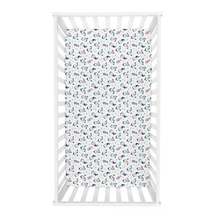 Trend Lab Mermaids Jersey Fitted Crib Sheet, , rollover