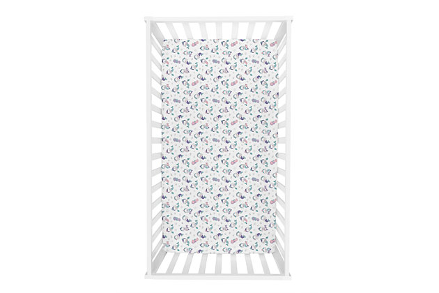 Trend Lab Mermaids Jersey Fitted Crib Sheet, , large