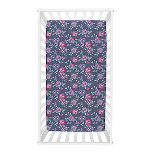 Trend Lab Flora Jersey Fitted Crib Sheet, , rollover