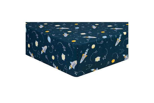 Trend Lab Rockets Jersey Fitted Crib Sheet, , large