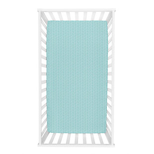Trend Lab Leaves Jersey Fitted Crib Sheet, , rollover