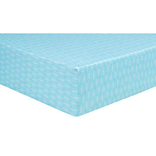 Trend Lab Leaves Jersey Fitted Crib Sheet, , large