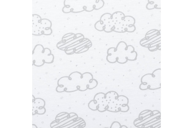 Trend Lab Sketch Clouds Jersey Fitted Crib Sheet, , large