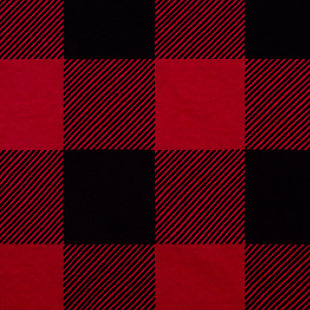 Trend Lab Buffalo Check Red/Black Jersey Fitted Crib Sheet, , large