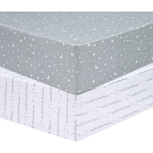 Trend Lab Celestial 2 Pack Microfiber Fitted Crib Sheets, , rollover