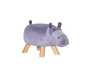 Powell  Hadley Hippo Kids Stool, , large