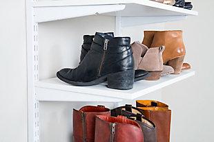 """Organized Living freedomRail® Adjustable Shelf Kit- 24"""" (6 Shelf), White, large"""