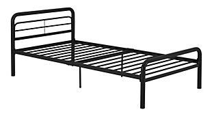 Metal Twin Bed, Black, rollover