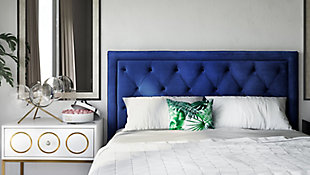 TOV Nacht Full Headboard in Navy Velvet, , rollover