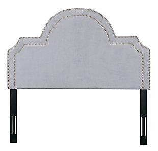 TOV Furniture Laylah Queen Headboard, Gray, large