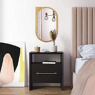 TOV Furniture Libre Nightstand, Black, rollover