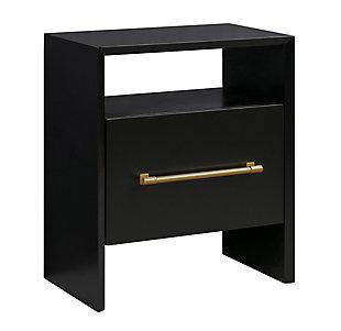 TOV Furniture Libre Nightstand, Black, large