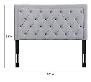 TOV Furniture Nacht Queen Headboard, Gray, large