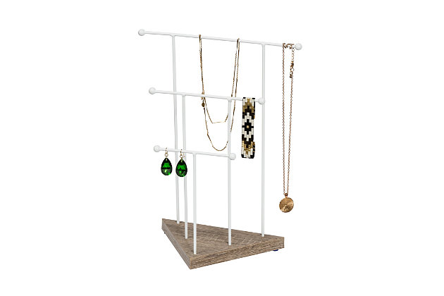 Honey Can Do 13-Inch 3-Tier Jewelry Stand, , large