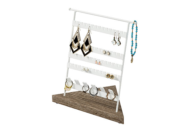 Honey Can Do 8-Inch Jewelry Stand For Earrings and Rings, , large